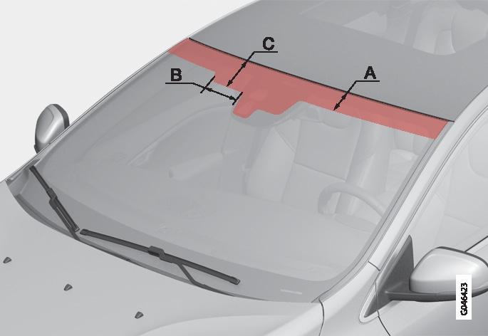 P4-1220-Y55X IR free windscreen