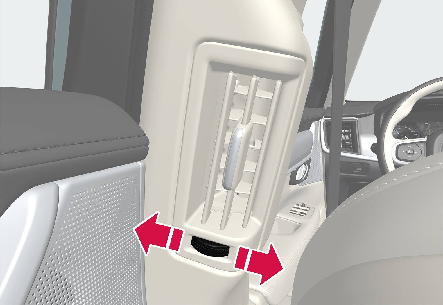 P5-1617-S90/V90–Climate–Air vent open and close rear