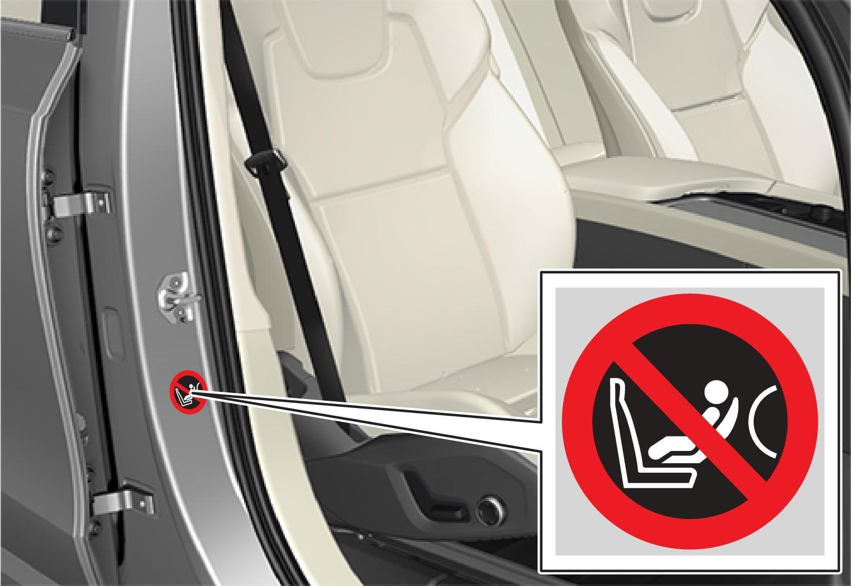 Label on the passenger side