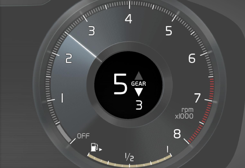 P5P6-1917-Gear shift indicator 12 inch driver display
