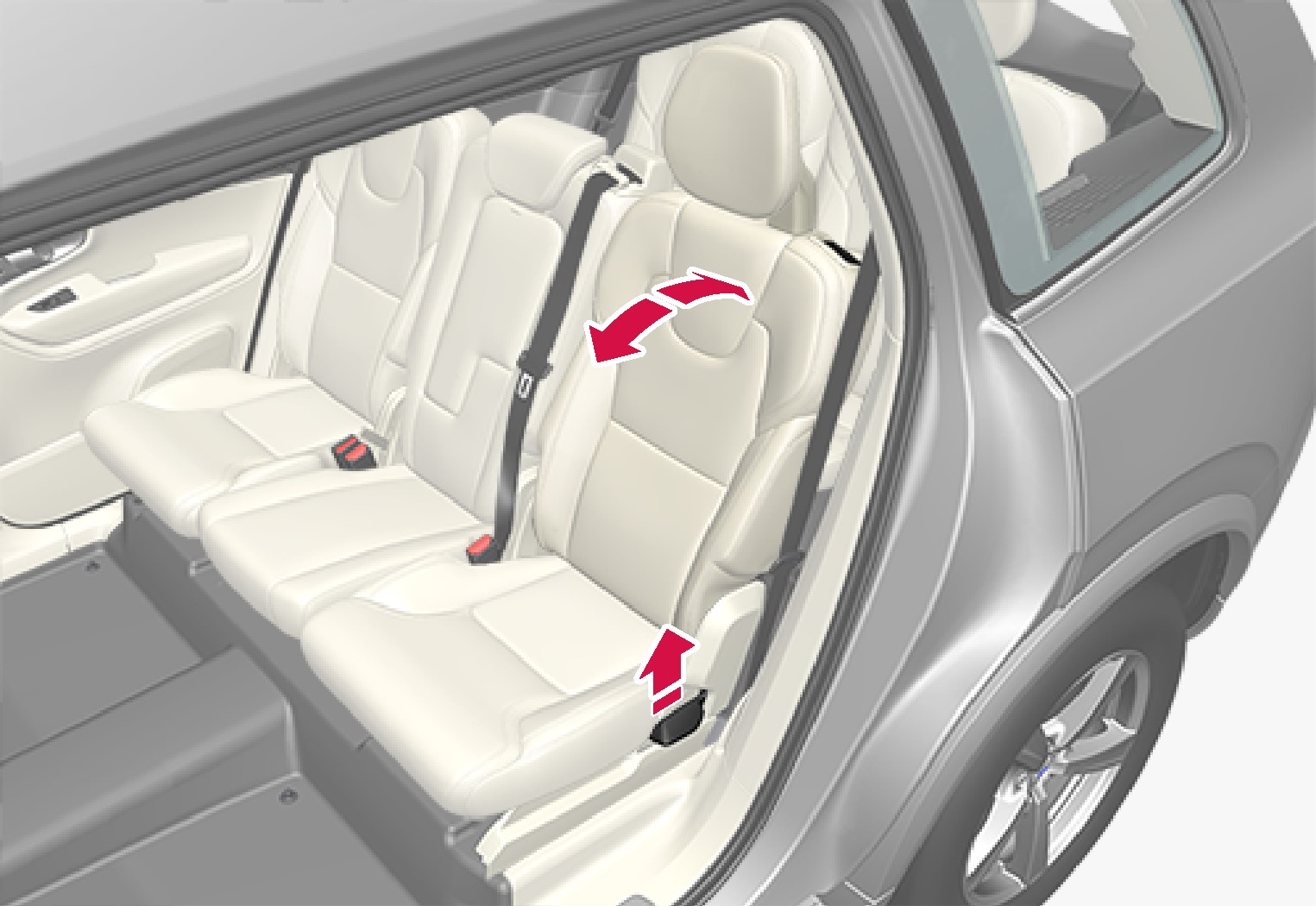 P5-1507-2nd seat row-Outer seats adjust individually with handle