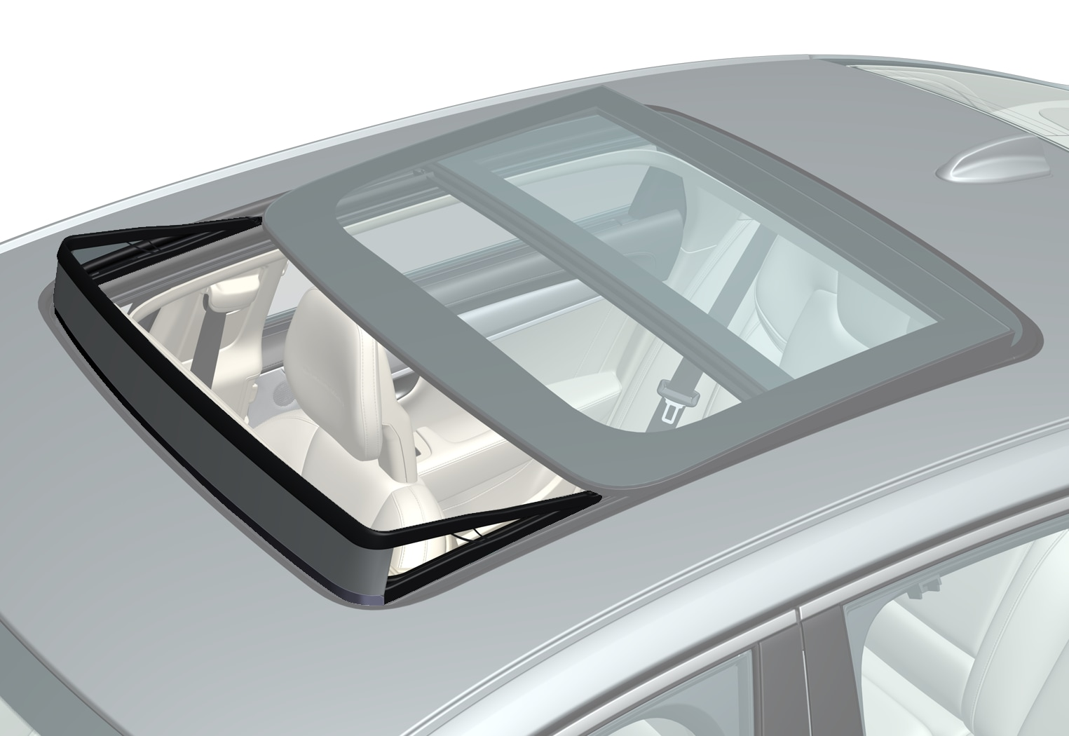 P5-1646-S90L Prio B Panoramic roof wind deflector