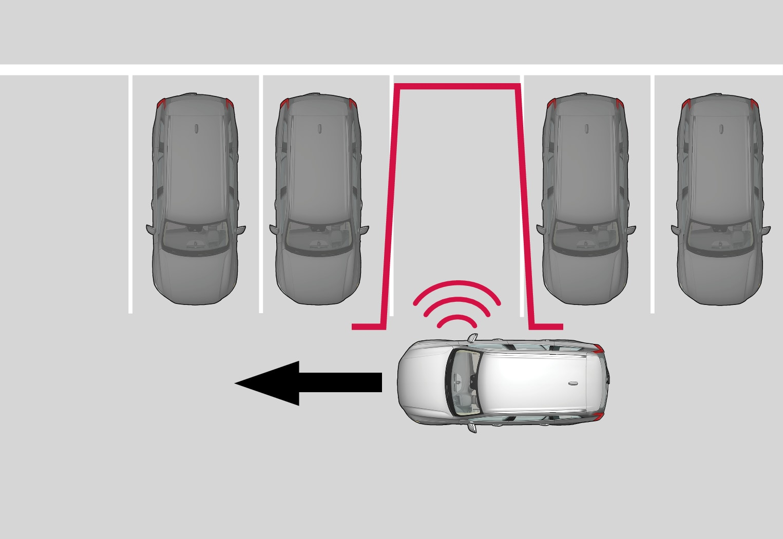 P5-1507-Park Assist Pilot, perpendicular parking Scan + Stop