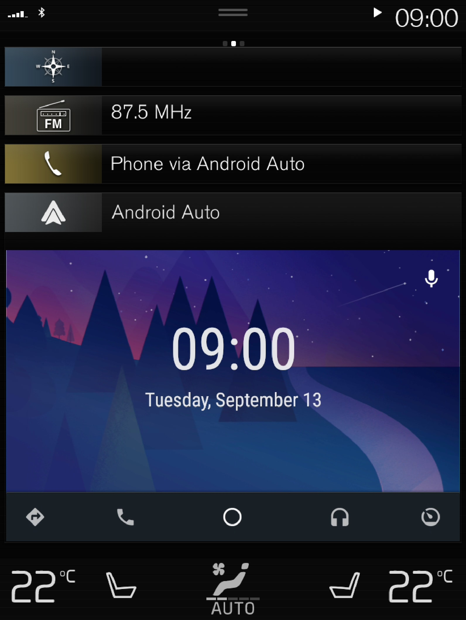 16w46 - P5 - Support site - Android Auto Clock View