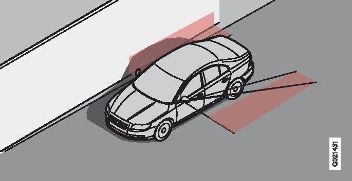 Auto enda vari suurel, heledal, siledal pinnal, nt müratõke või betoonist tee.