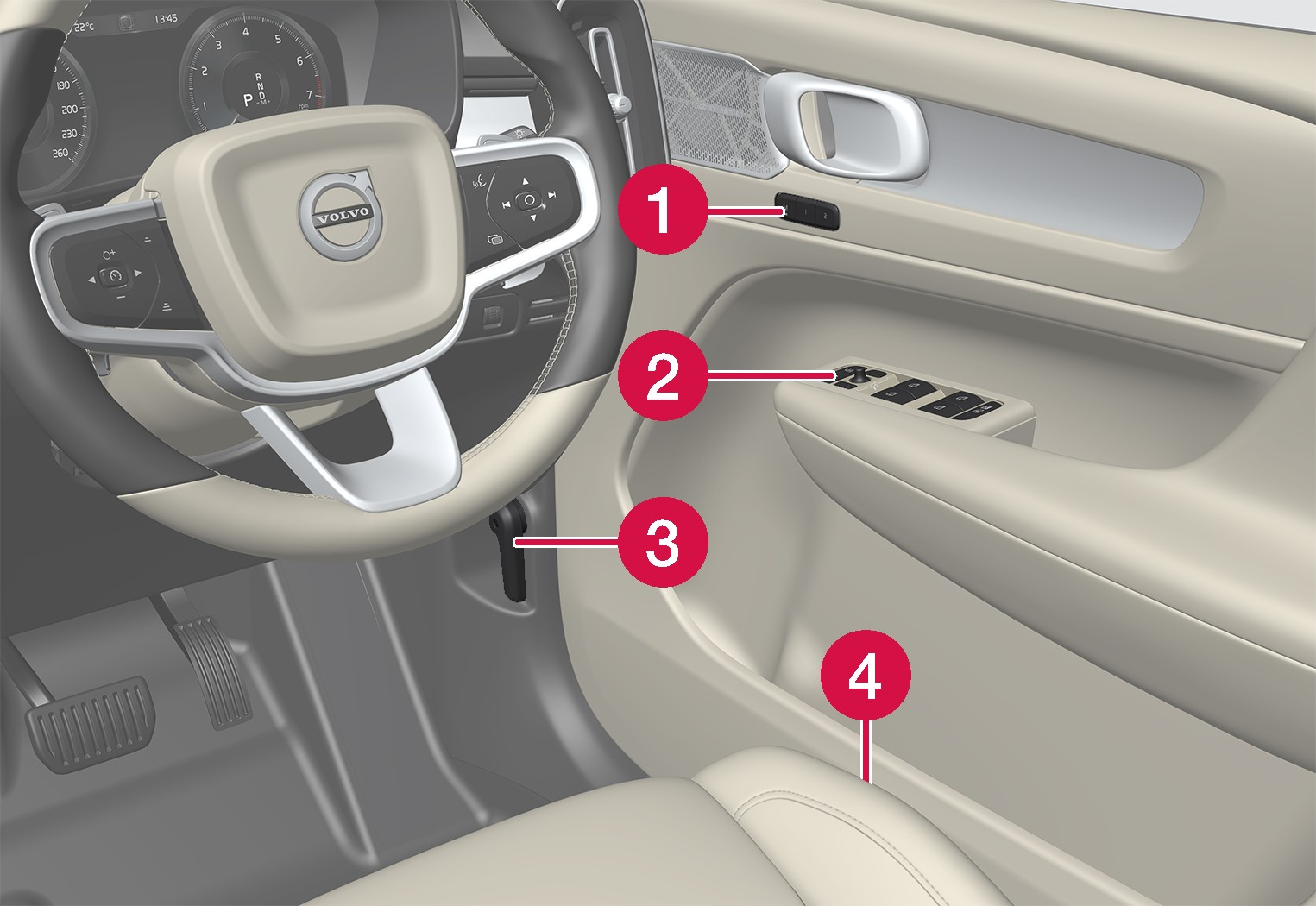 P6-1746-XC40-Controls inside left door and seat RHD