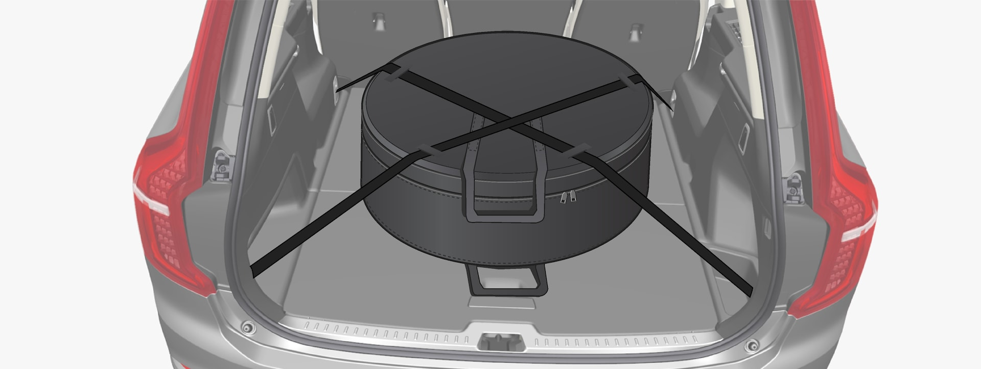 P5-1519-XC90 hybrid-Spare wheel in cargo area