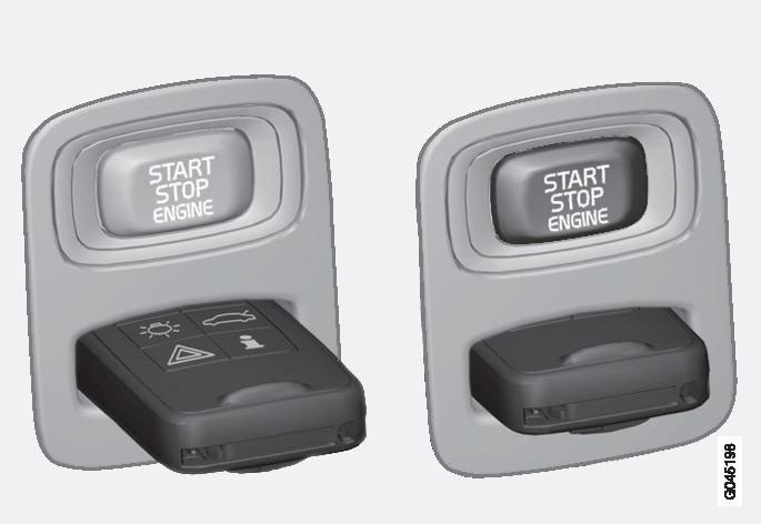 Вимикач запалення з витягненим/вставленим ключем ДК.