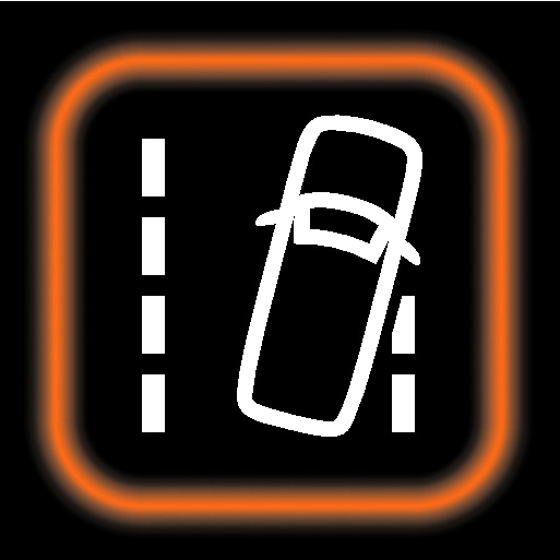 P5-1846-Lane Keeping Aid symbol with orange border