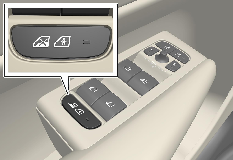 P6-1746-XC40 - Child safety lock button