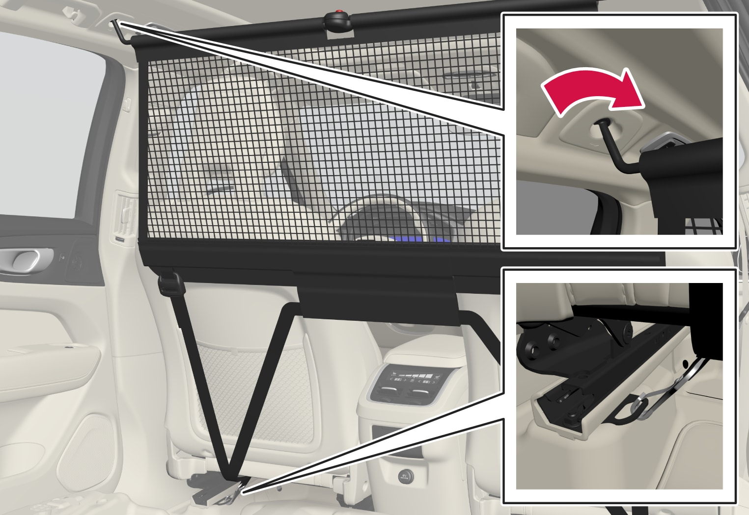 P5-1717-XC60-Load net front installation