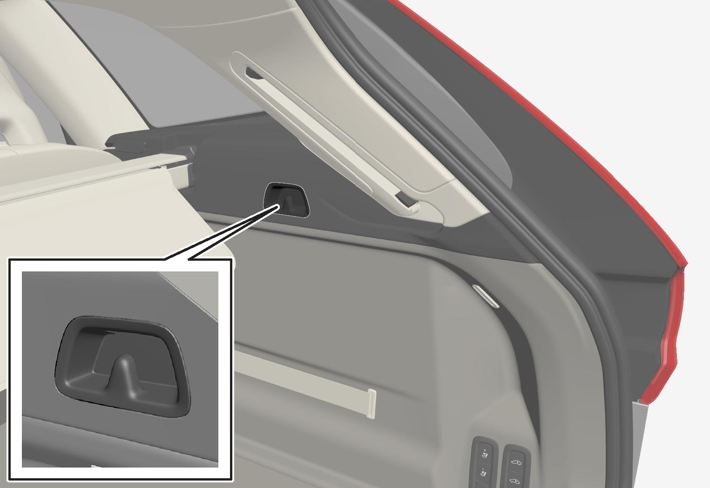 P5-1717-XC60-Bag holder hook in trunk
