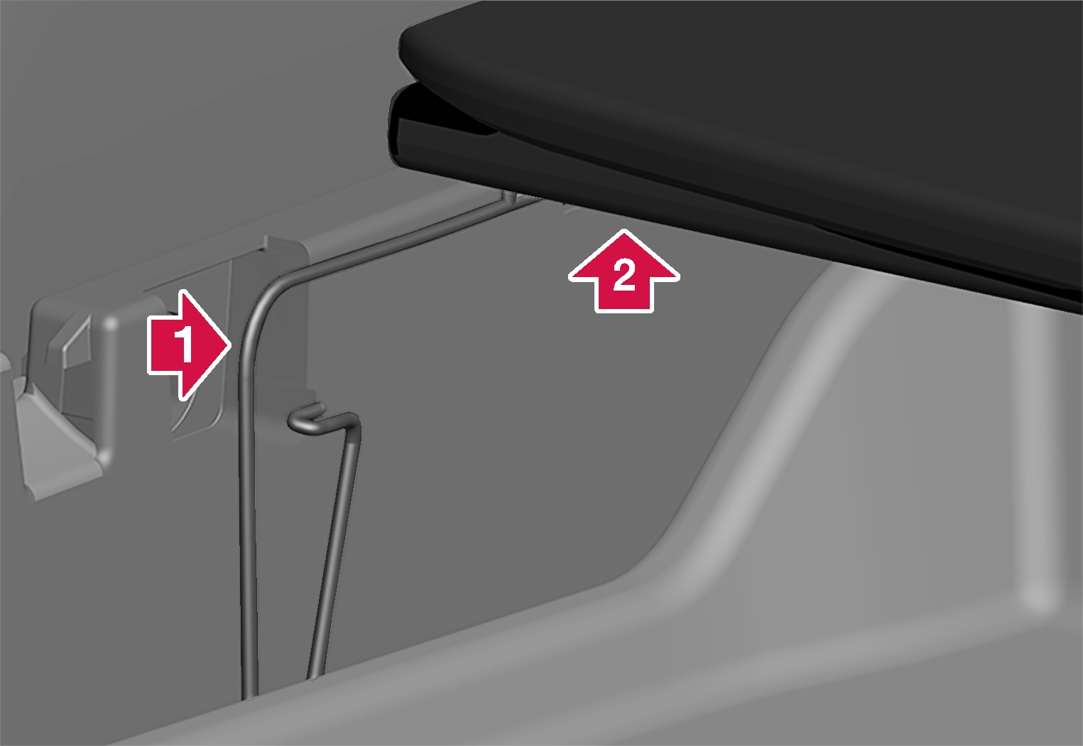 P6-1817-XC40-Foldable loadfloor removal step 1