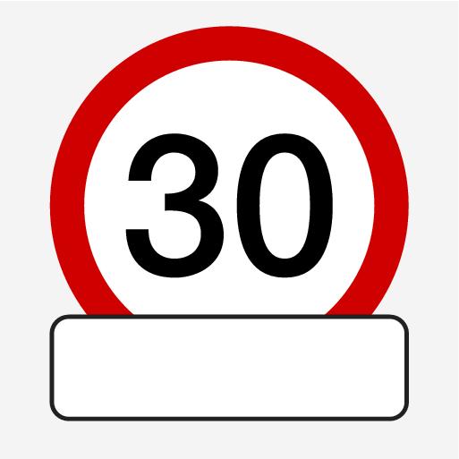 P5-1507-RSI Hastighet m Tilläggstavla utan innehåll