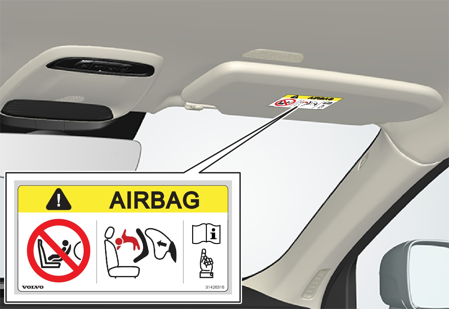 P5-1546–Safety–Airbag decal placement EU 1