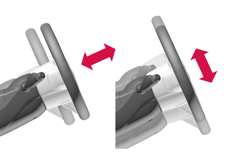 P5-1617-adjustment directions steering wheel