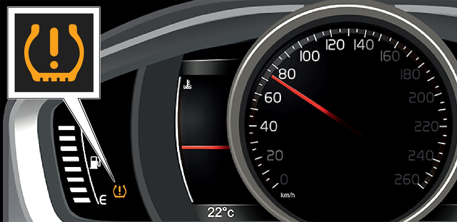 15w49 - Support site - Tyre pressure instrument cluster