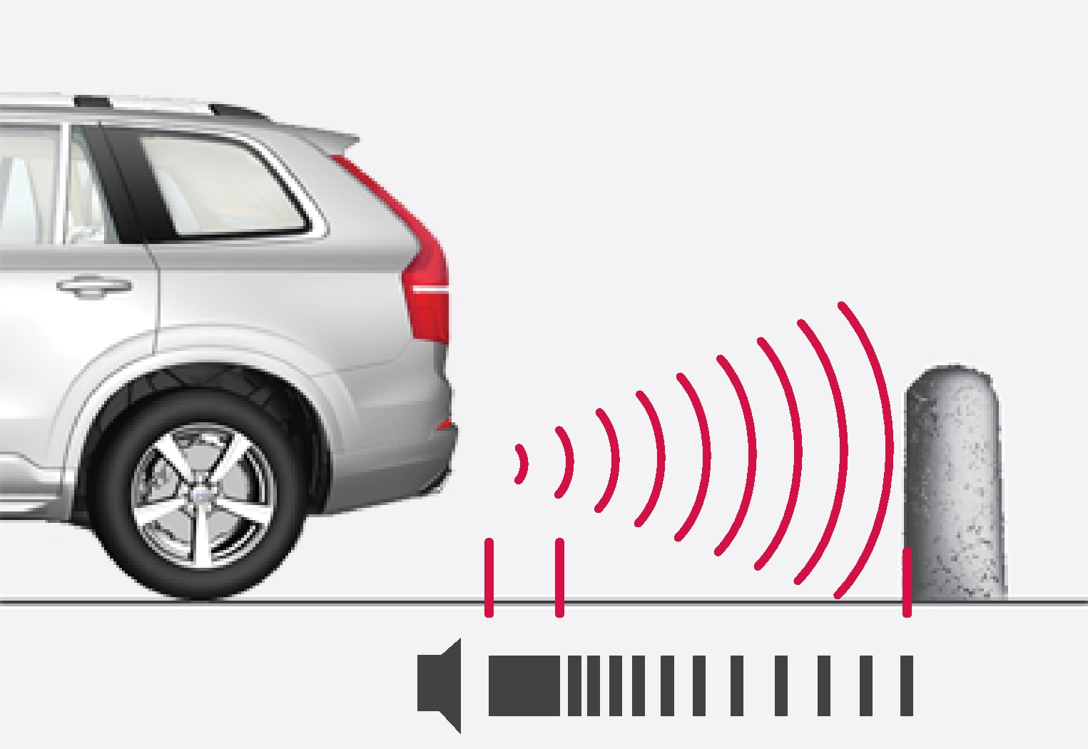 P5-1507-Park Assist, warning signal rear