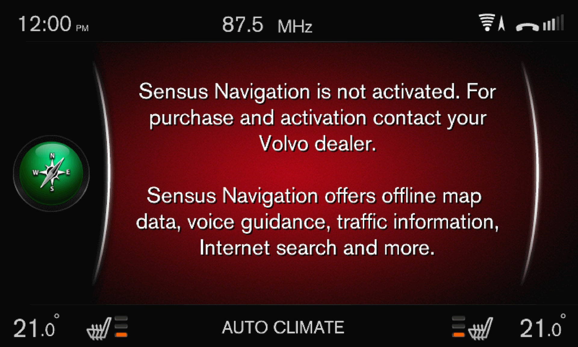 P3/P4 - Support site - Information about Sensus Navigation purchase and activation