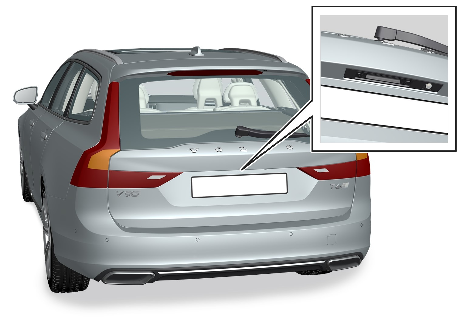 16w17 - SPA - V90 - Tailgate pointing out handle