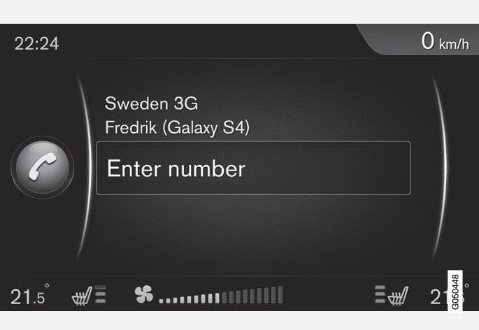 Приклад звичайного екрана для керування телефоном.