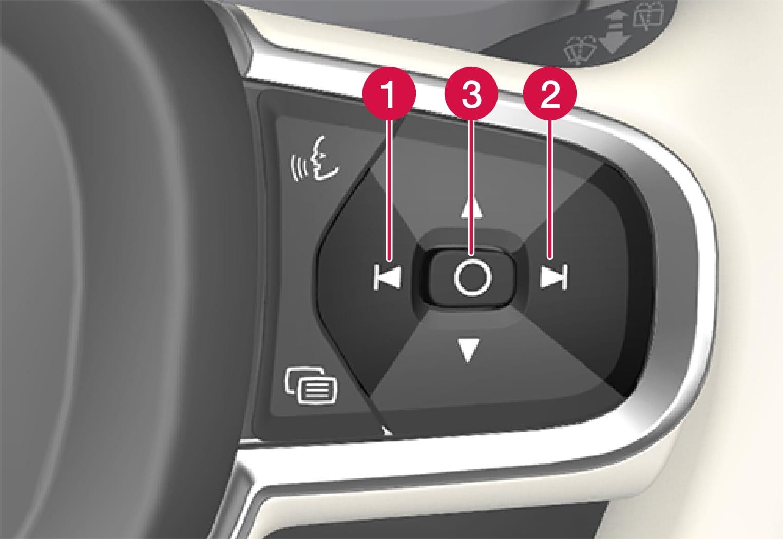 P5-Head Up Display, settings on steering wheel