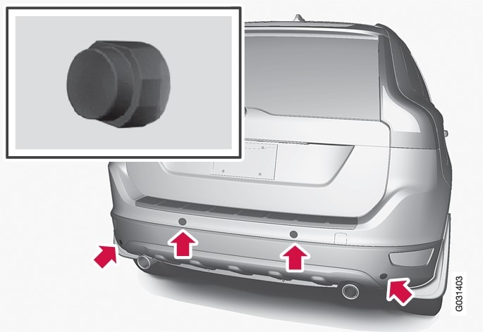 Sensor location, rear.