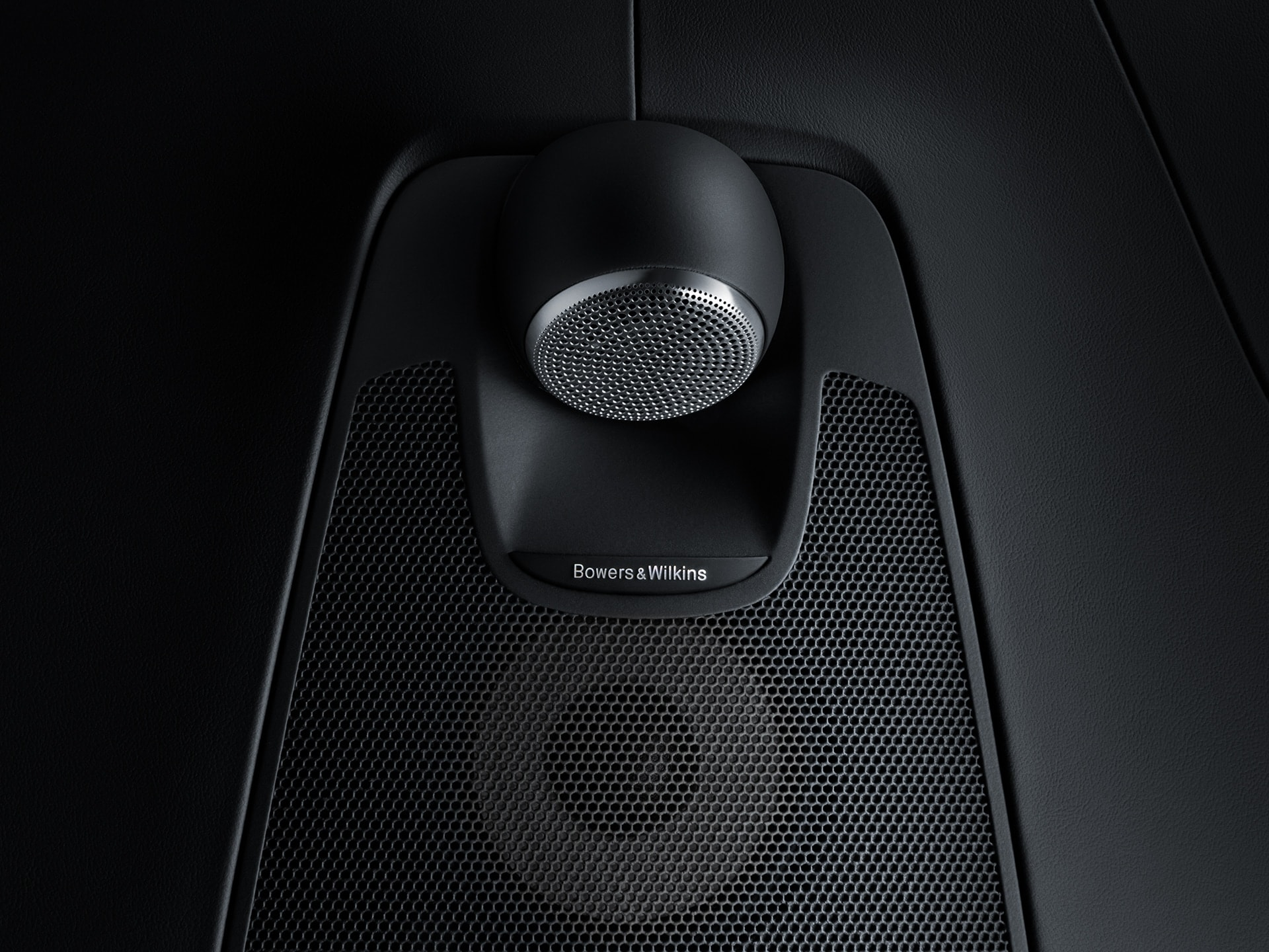 Bowers & Wilkins audio system inside a Volvo XC60