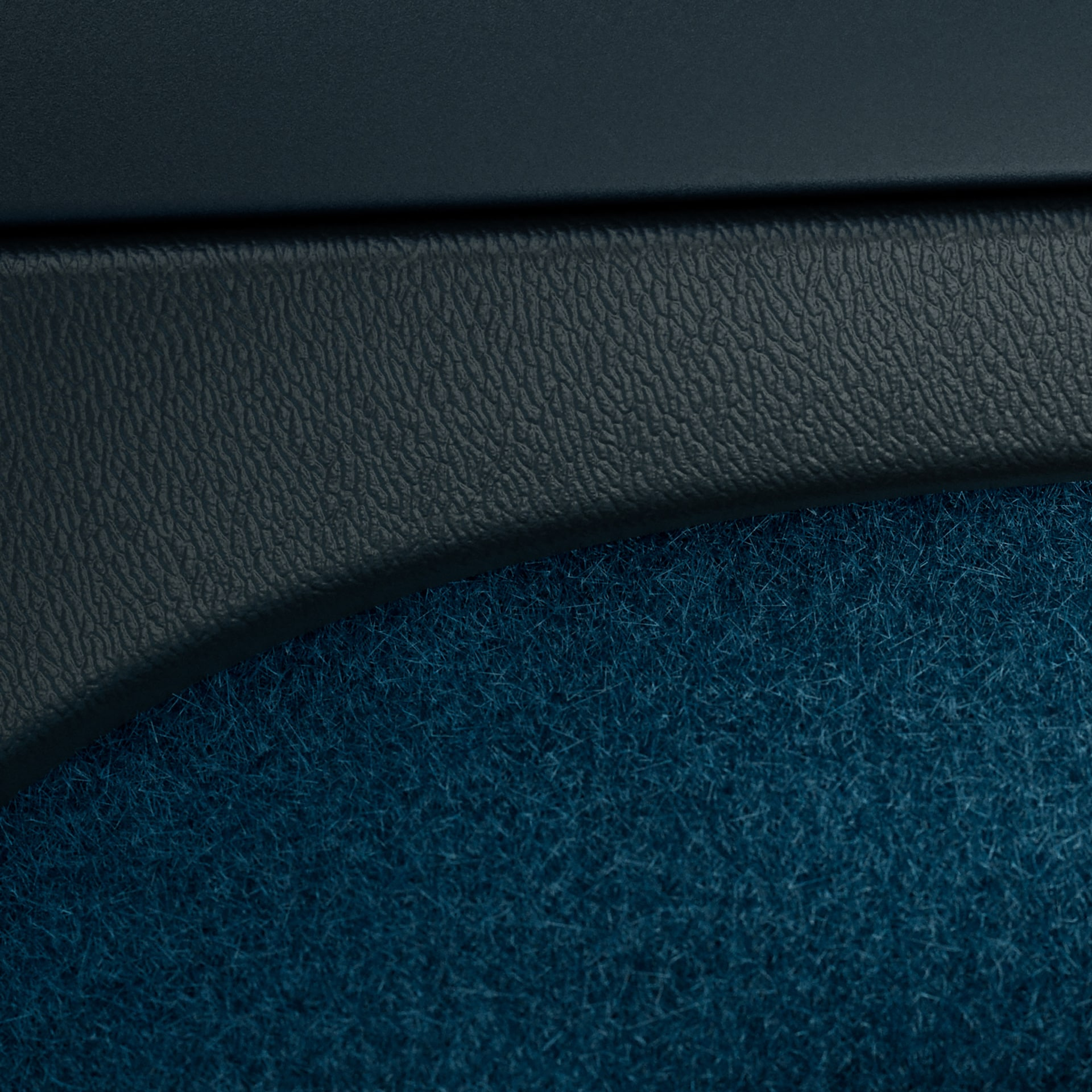 Inner door with leather-free upholstery on Volvo C40 Recharge.