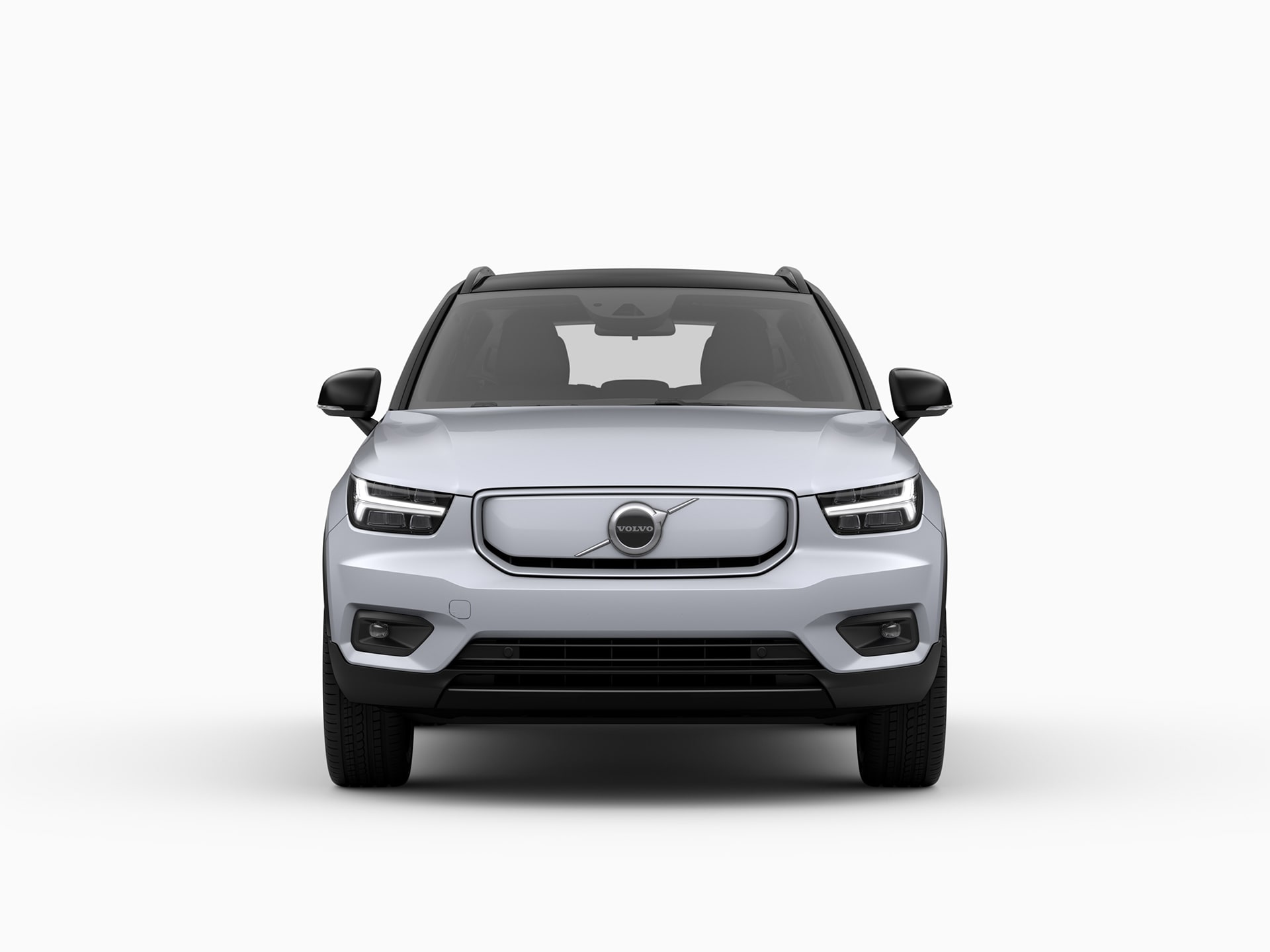 Die Frontansicht des Volvo XC40 Recharge Pure Electric.