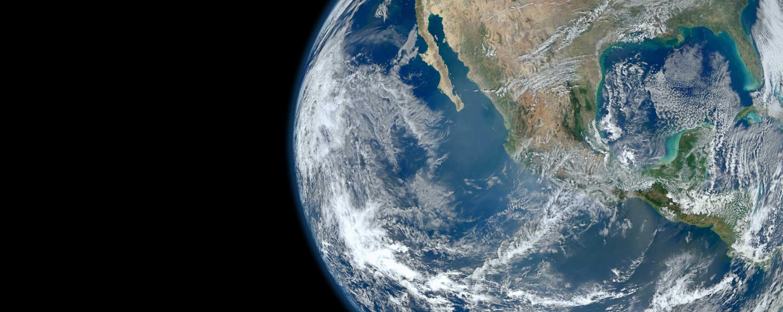 A Föld bolygó az űrből nézve.