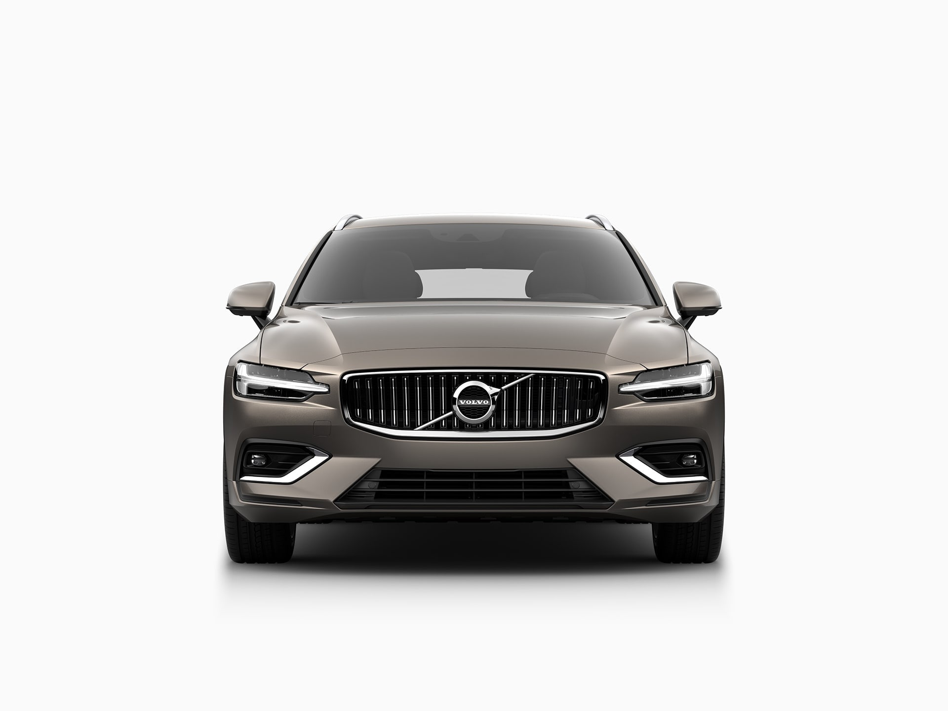 The front of a Volvo V60.