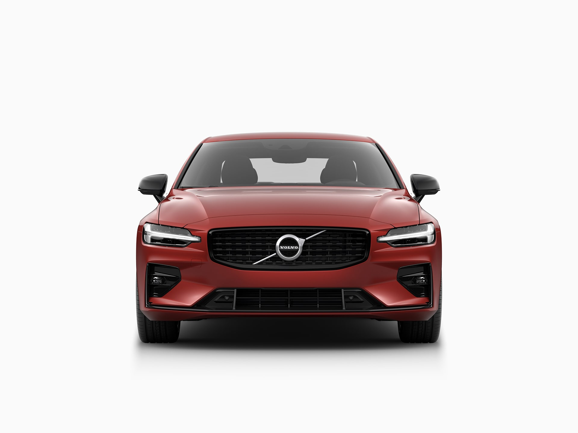 The front of a Volvo S60 sedan.