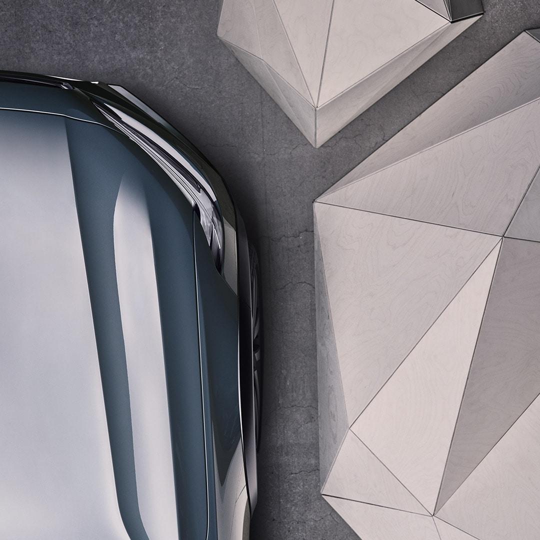 Framhluti bláskeljasanseraðs Volvo V90 Cross Country