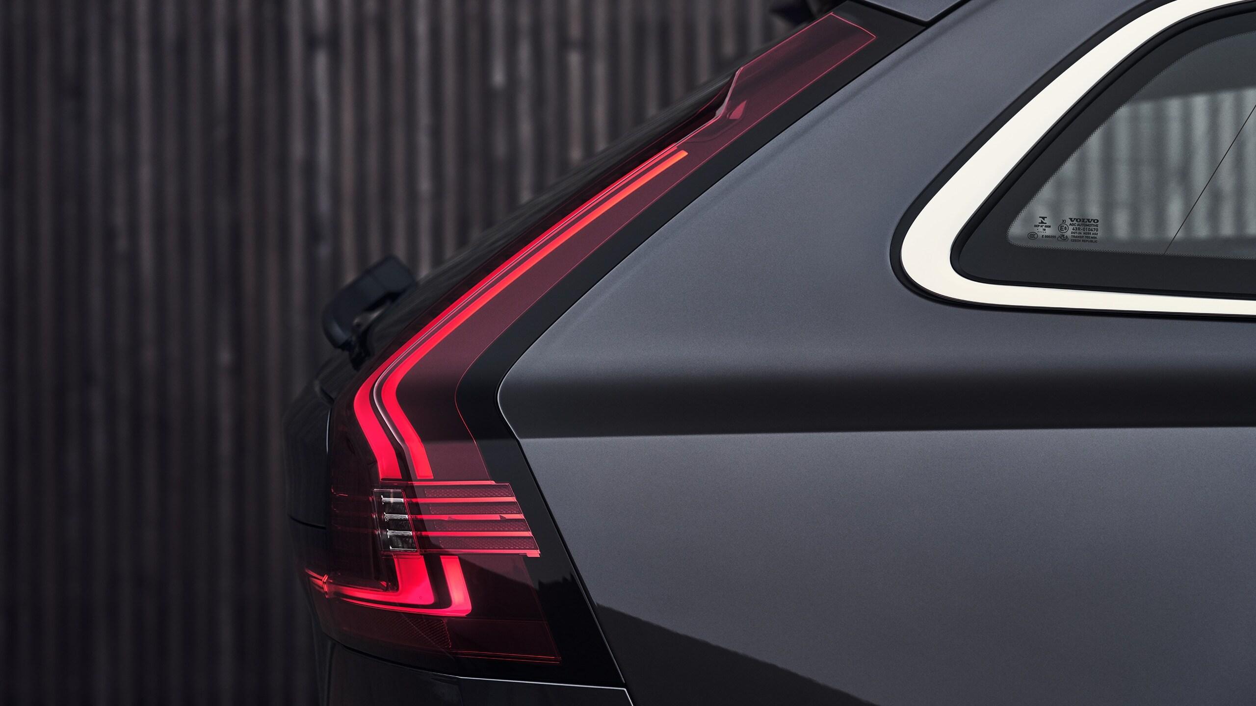 Parte esterna posteriore di una Volvo V90