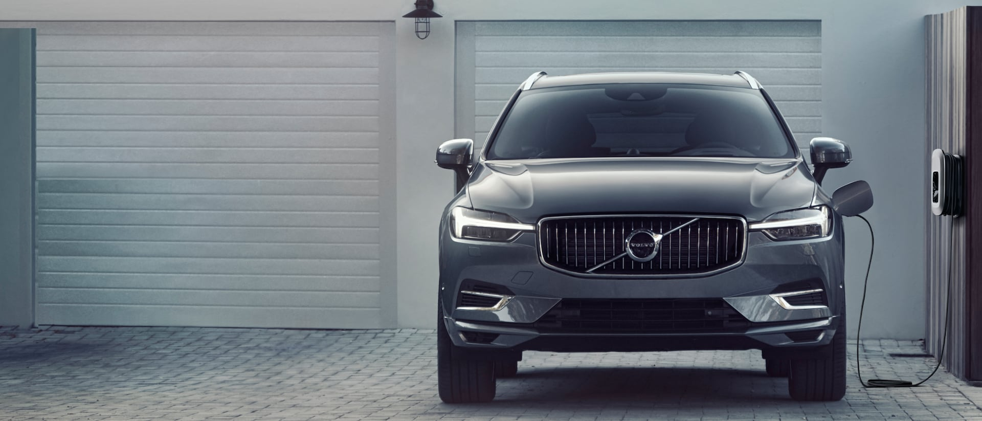 Front view of Volvo XC60 Recharge car
