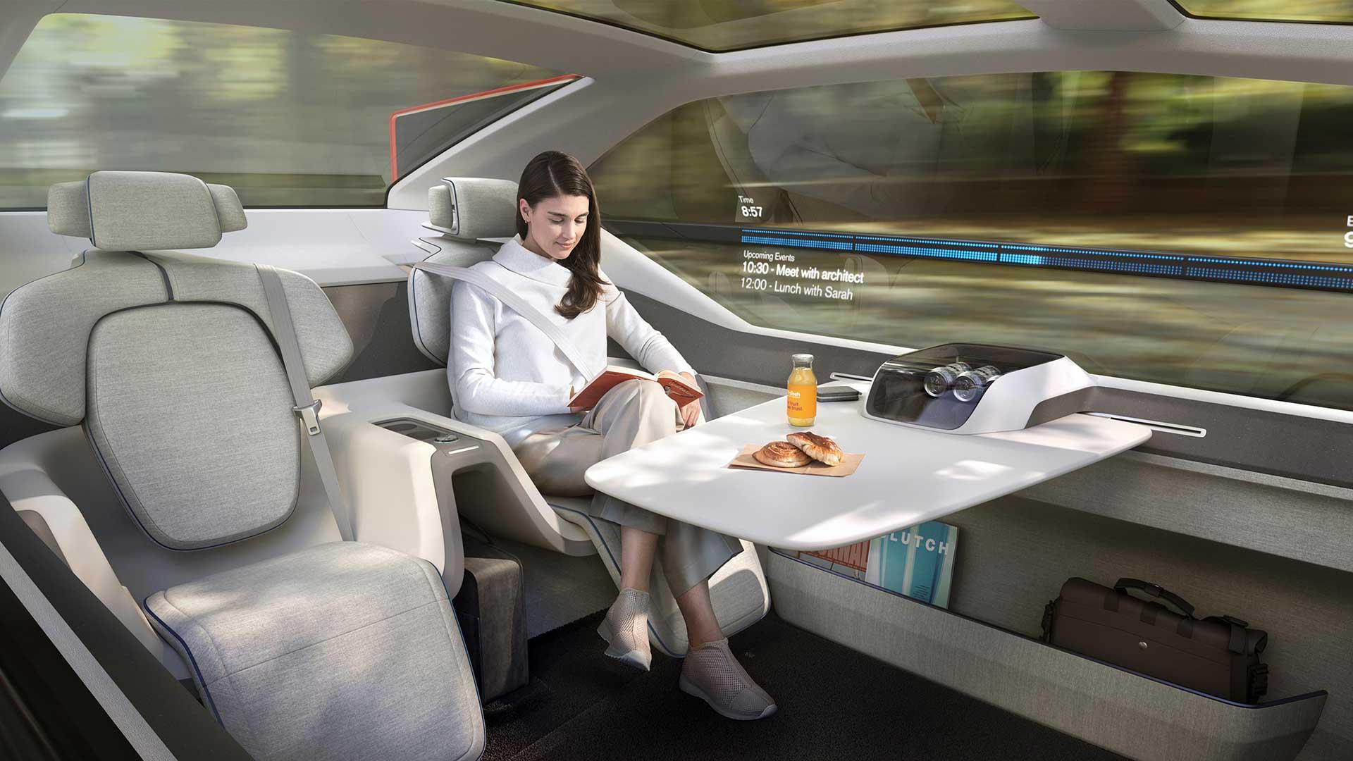 The Volvo 360C concept vehicle.