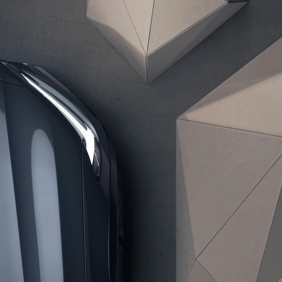 Plavi metalik Volvo V90 Cross Country boje dagnje sprijeda.
