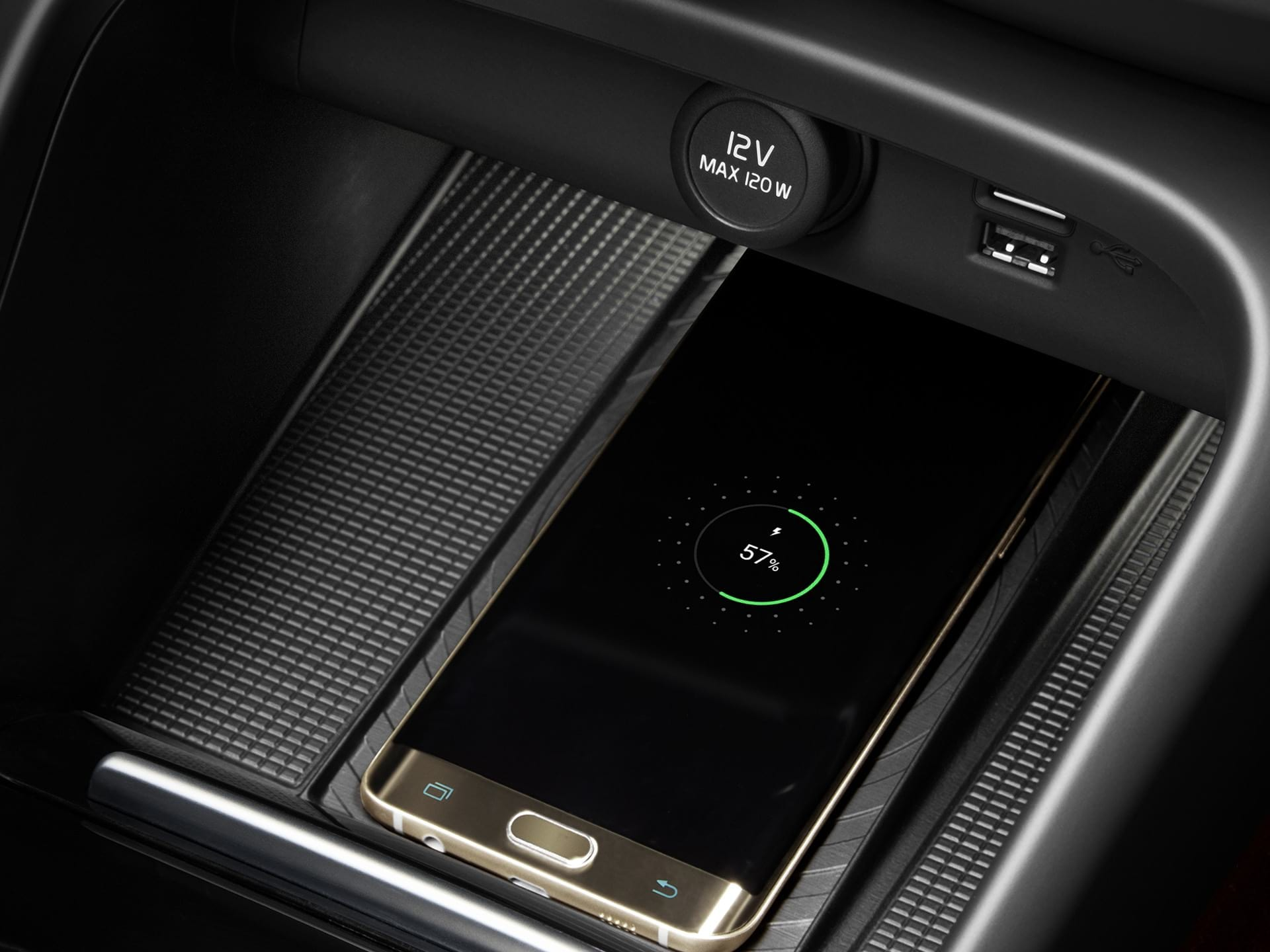 Wireless charging for your phone in an XC40 Recharge.