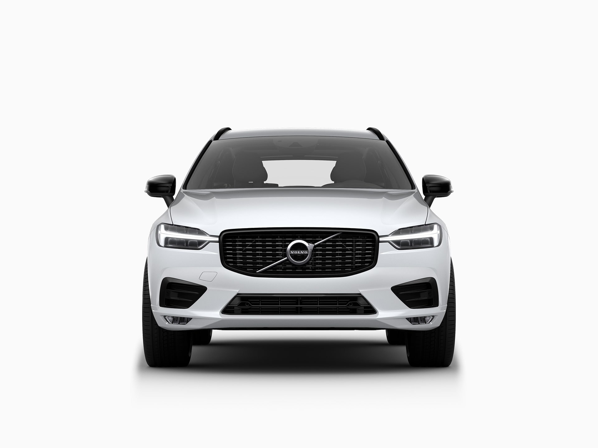 The front of a Volvo XC60 SUV.