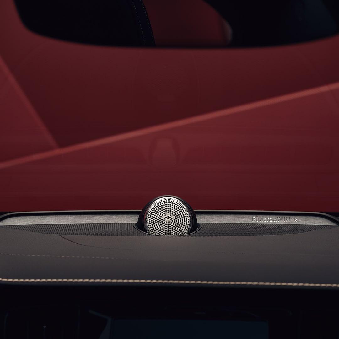 Bowers & Wilkins speaker inside a Volvo S60 sedan.