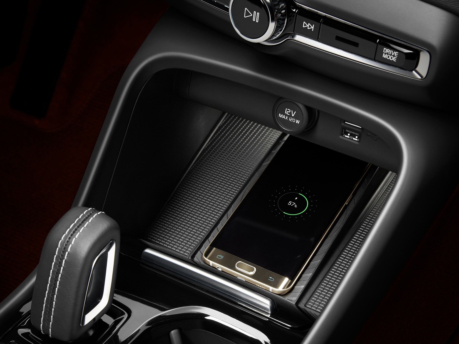 Harman Kardon speakers inside a Volvo XC40 Recharge.