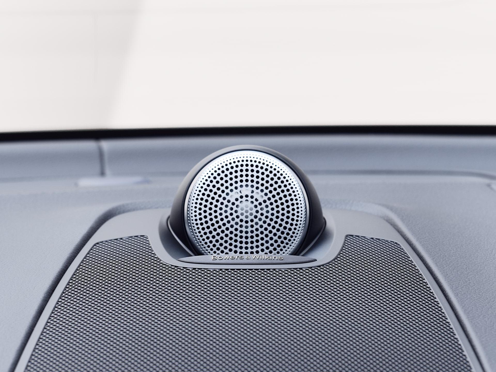 Bowers & Wilkins speakers inside a Volvo XC60.