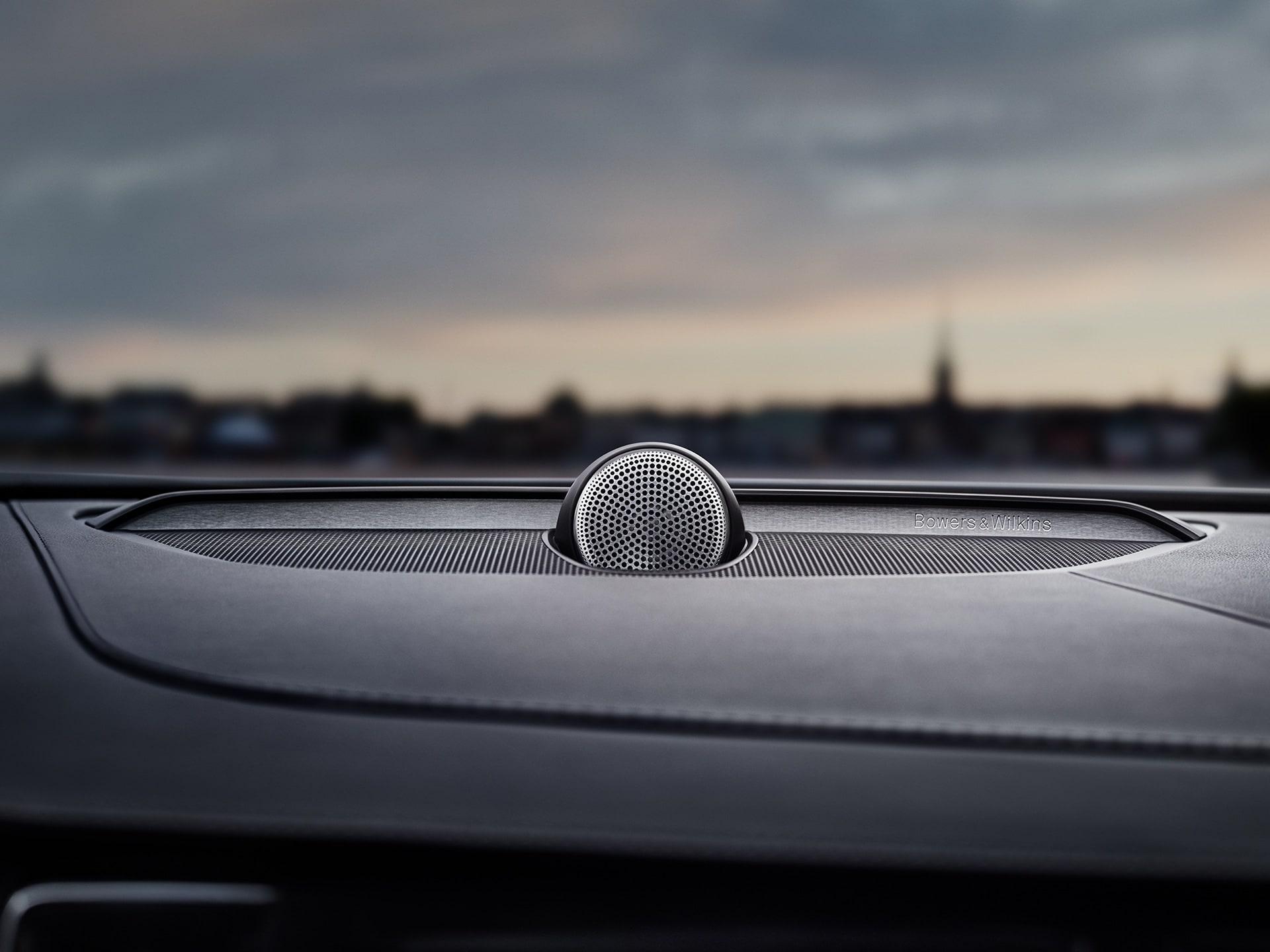 Bowers & Wilkins speakers inside a Volvo XC90.