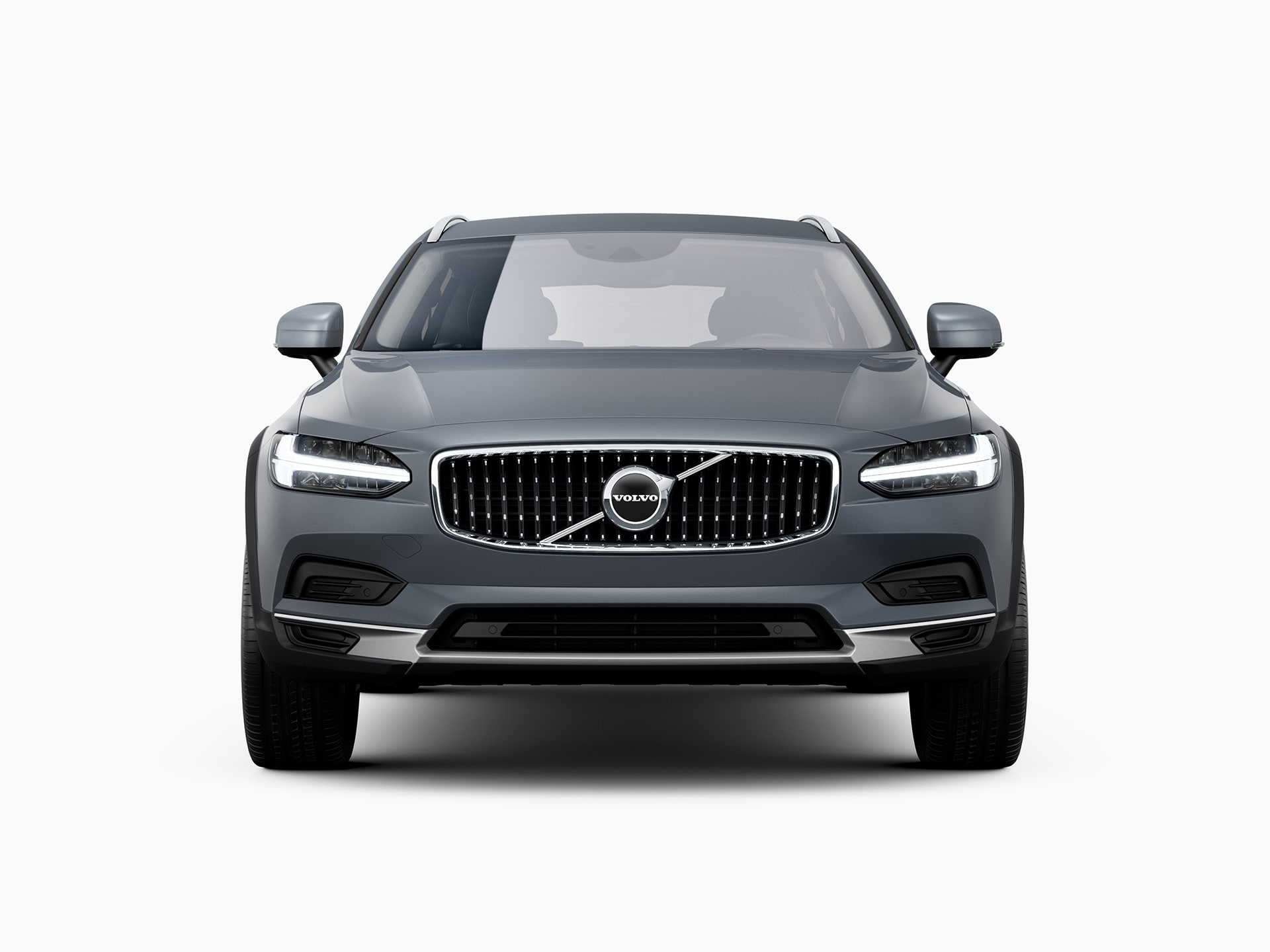 The front of a Volvo V90 Cross Country.