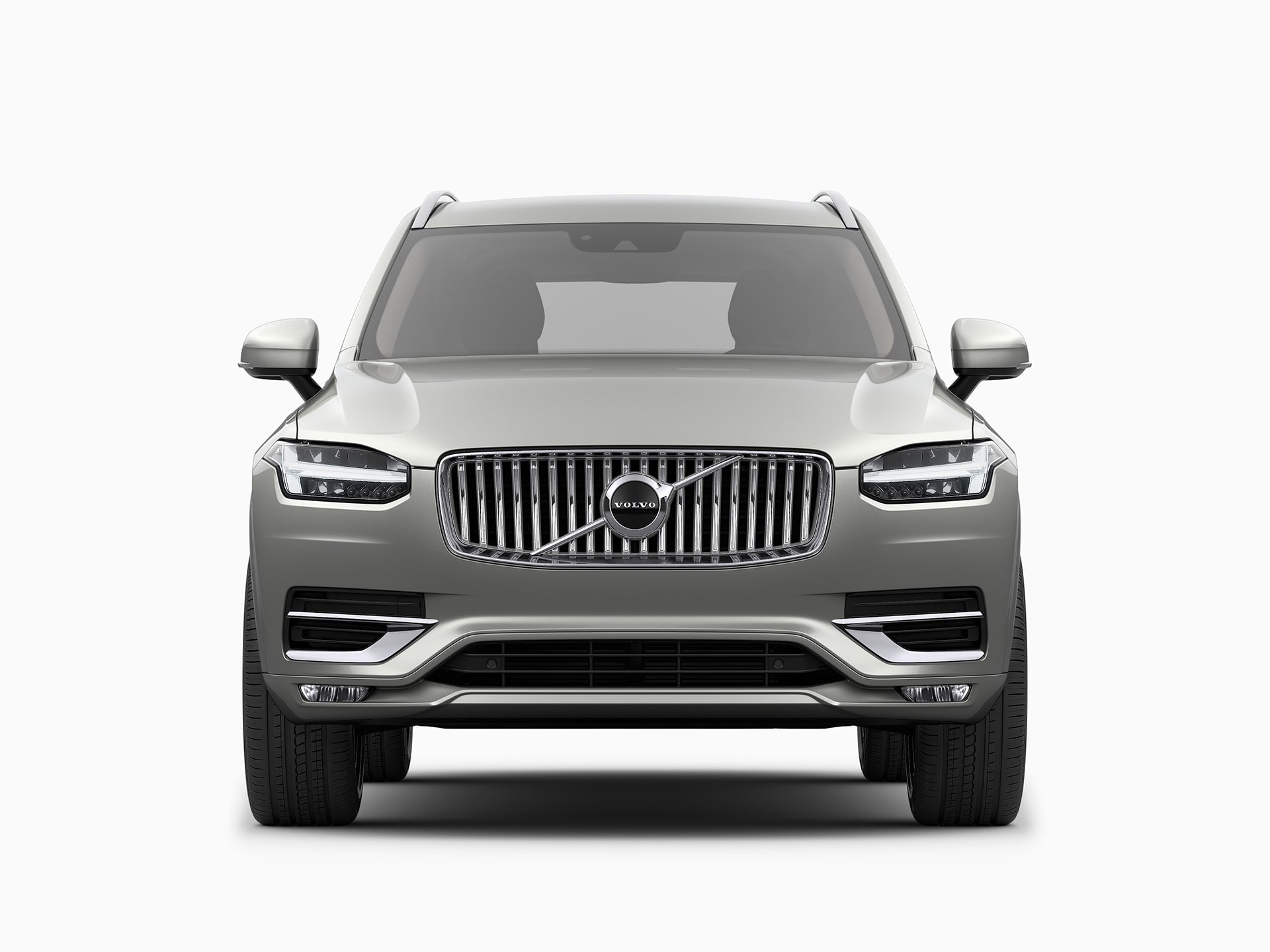 The front of a Volvo XC90 SUV.